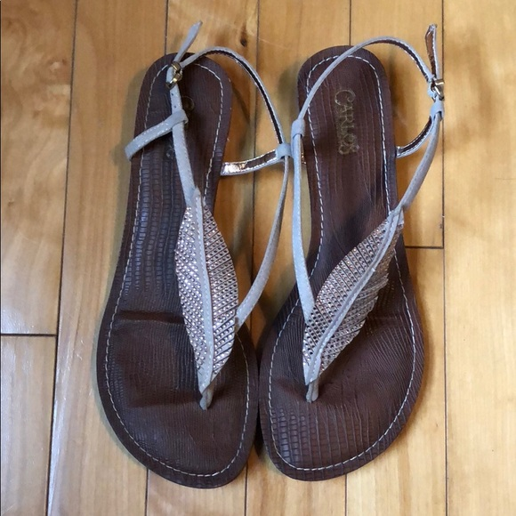 ace5c0a78c8f Carlos Santana Shoes - Rose gold rhinestone leaf Carlos 8.5 sandal
